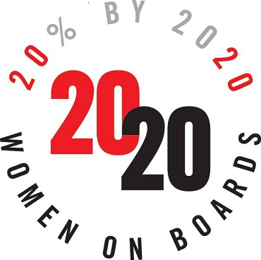 2020 Women on Boards badge type logo